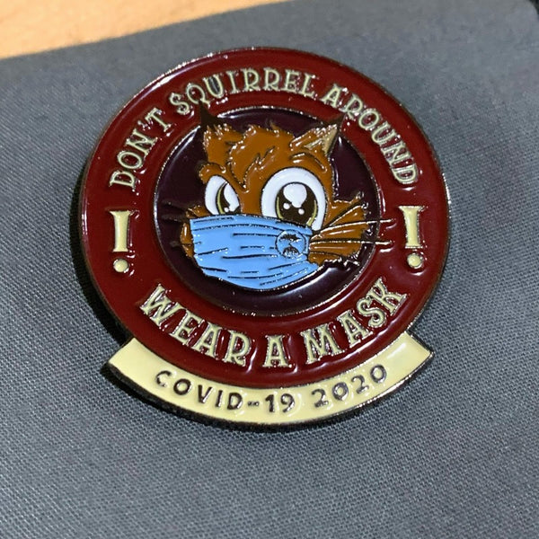 Special Edition Sabre-Toothed Squirrel 'Mask-up' Pin