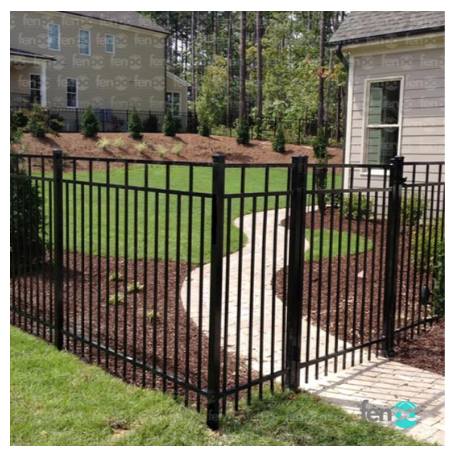 Fenpo - Carolina 5' Aluminum Fence Bundle
