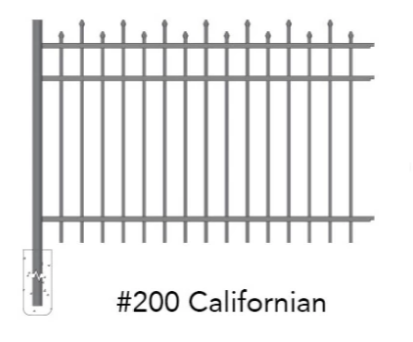 Fenpo - Californian 6' Aluminum Fence Bundle