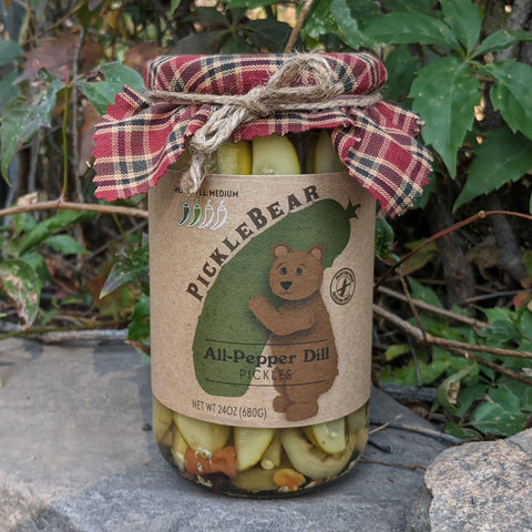 All-Pepper Dill 24oz - Medium/Hot Bloody Mary Pickle Spears - PickleBear - Colorado Pickles