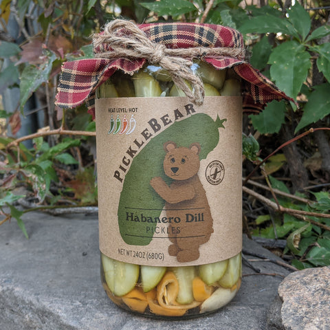 Habanero Dill 24oz - HOT Pickle Spears - PickleBear - Colorado Pickles