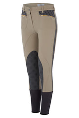 Accademia Italiana Bold Limited Grip Breeches Ecru front view