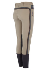 Accademia Italiana Bold Limited Grip Breeches Ecru rear view