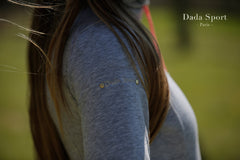Dada Sport Cornet Hoody Sweater Grey right arm detail