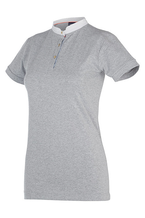 Dada Sport Winningmood Competition Polo Top grey front view