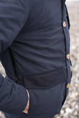 Dada Sport Power Play Winter Parka navy pocket arm sleeve button detail