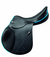 Prestige X-Breath Black and turquoise profile view