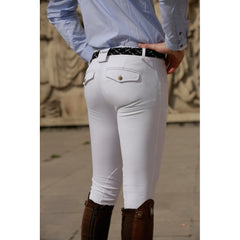 Dada Sport Carlo Mens Breeches White rear pocket view