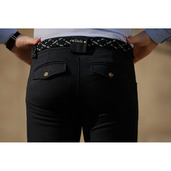 Dada Sport Carlo Mens Breeches Navy rear pocket detail