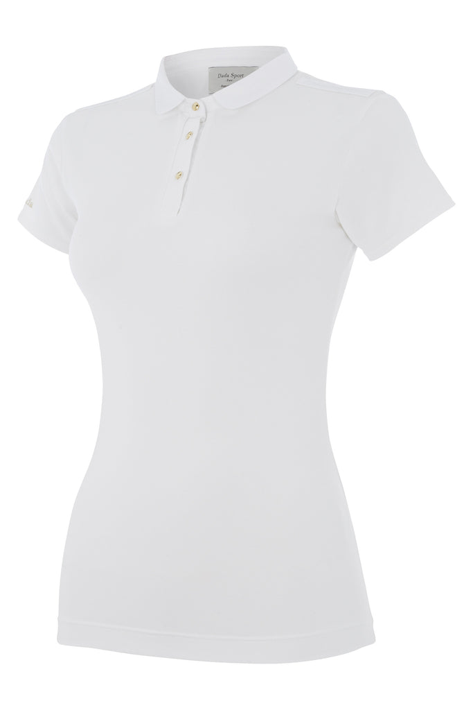 Dada Sport Winningmood Competition Polo Short Sleeved Top NEW - White