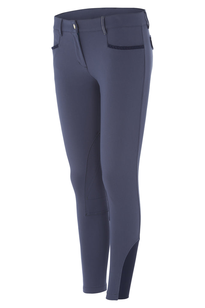 Dada Sport Corradina Breeches Blue Grey front view
