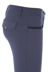 Dada Sport Corradina Breeches Blue Grey side view