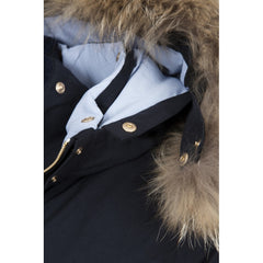 Dada Sport Hello Winter Parka NEW Navy hood collar detail