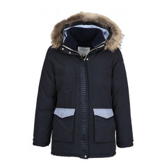 Dada Sport Hello Winter Parka NEW Navy front view