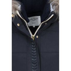 Dada Sport Quismy Down Jacket NEW Navy front view zip detail