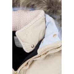 Dada Sport Quismy Down Jacket NEW Beige collar hood detail