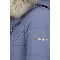 Dada Sport Quismy Down Jacket NEW Blue Grey arm logo detail