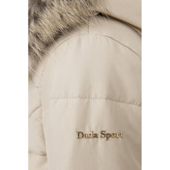 Dada Sport Quismy Down Jacket NEW Beige arm logo detail