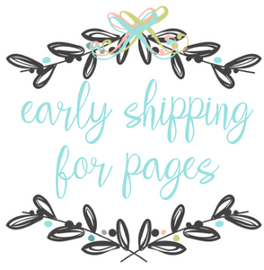 Early Shipping for Pages