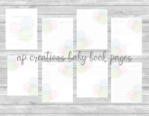 Modern Circle Printable Pages