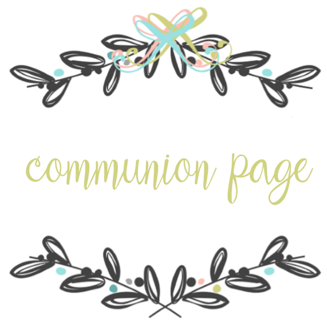 Add On Page - Communion Page