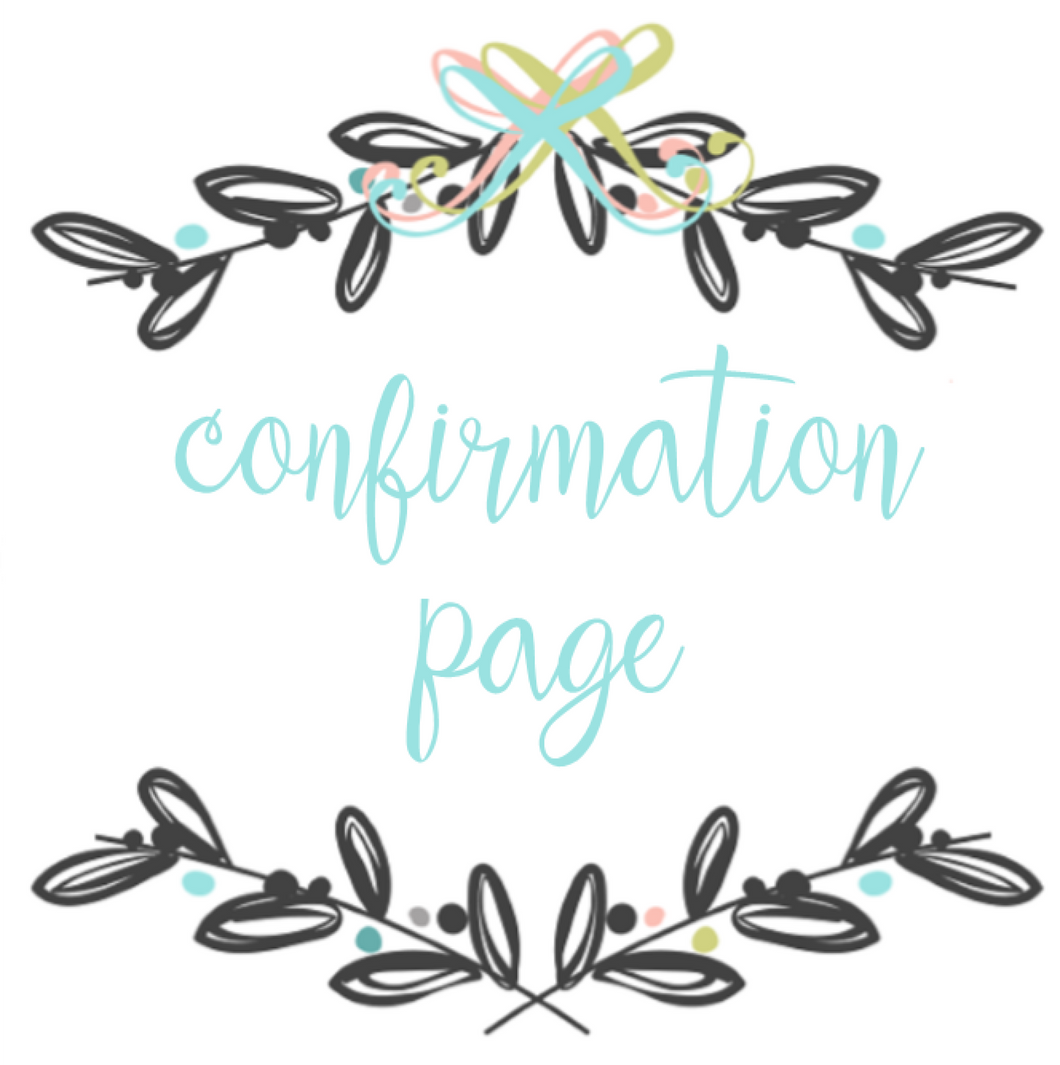 Add On Page - Confirmation Page