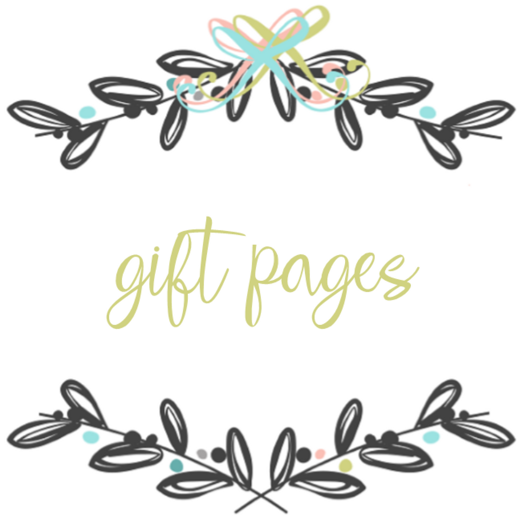 Add On Page - Baby Book Gift Pages