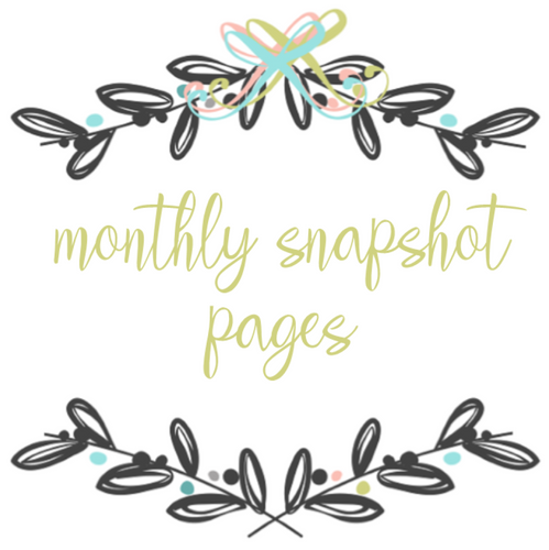 Add On Page - Monthly Snapshot Pages