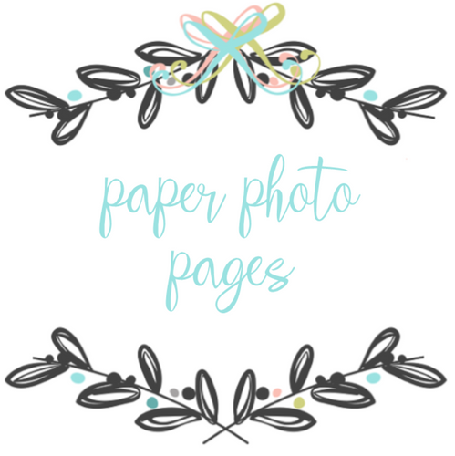 Add On Page - Paper Photo Pages/Blank Pages