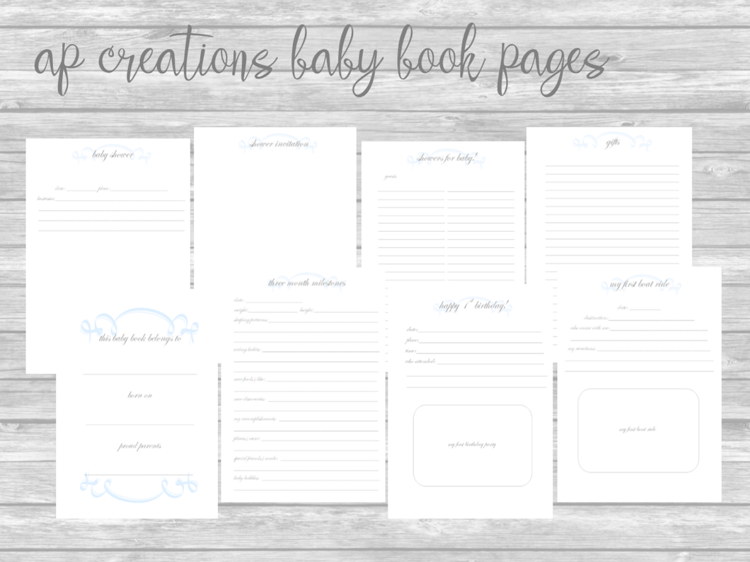 Pink Traditional DIY Printable Pages