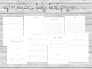 Blue Traditional DIY Printable Pages