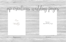 Load image into Gallery viewer, Wedding Memory Book - Ivory Silk with Fancy Font in Crystal Cream Thread