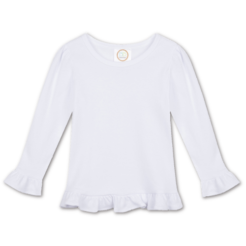 Girl Long Sleeve Ruffle Shirt