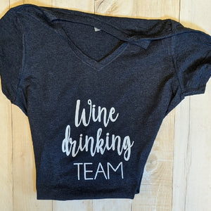 T-Shirt Wine Drinking Team