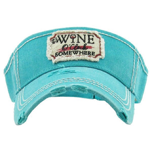Wine O'Clock Somewhere Visor