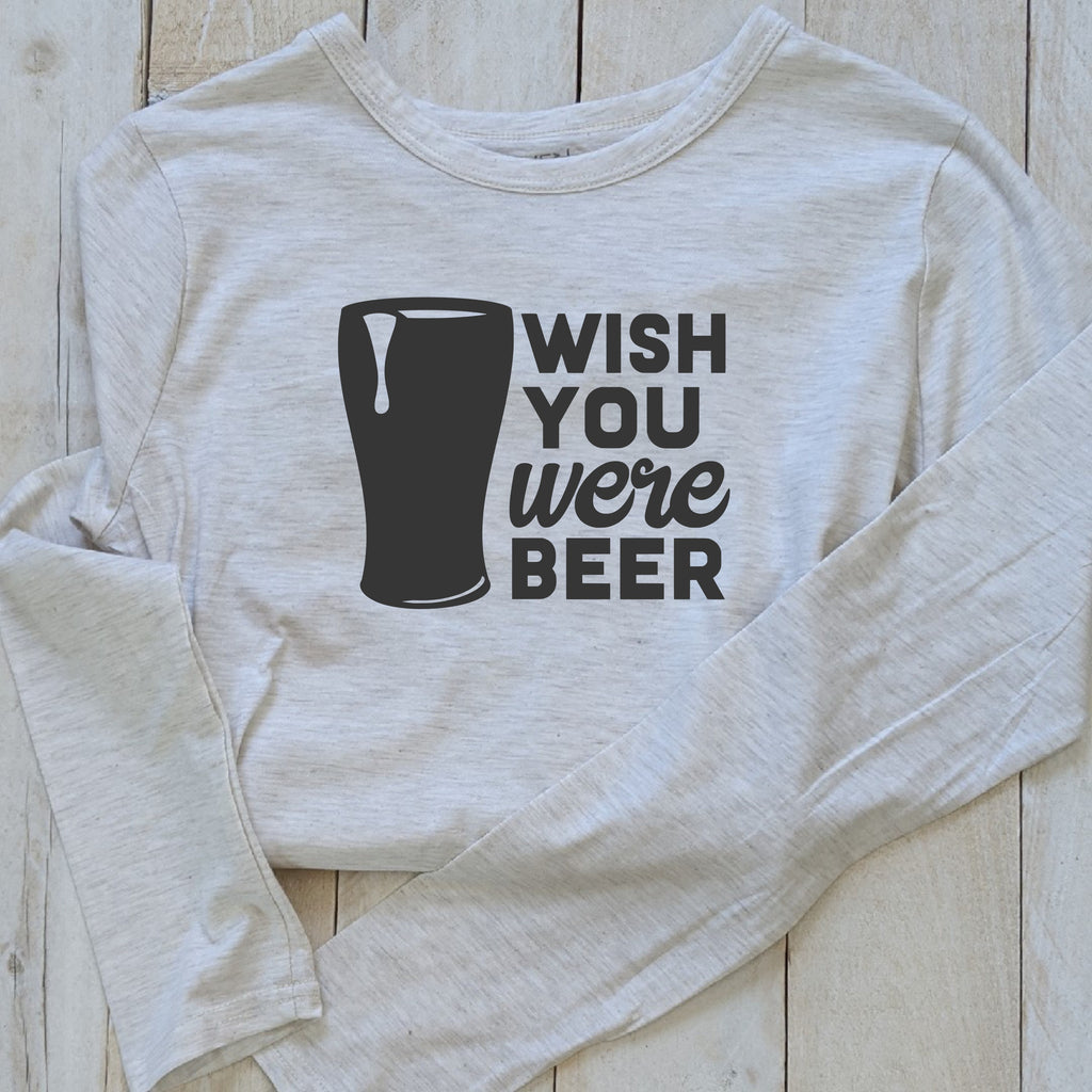 "T-Shirt ""Wish You Were Beer"""