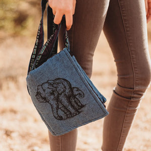 Nepal Elephant adjustable shoulder bag