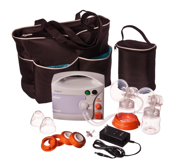 Hygeia EnJoye LBI Breast Pump with Deluxe Black Tote Set