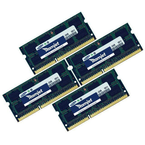 DDR3-1333-SODIMM - 32GB IMac Memory For Mid 2010 To Mid 2011 Models 11,3 (i5/i7) 12,1 (i5/i7) And 12,2 (8GBx4)