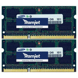 DDR3-1333-SODIMM - 16GB IMac Memory For Mid 2010 To Mid 2011 Models 11,3 (i5/i7) 12,1 (i5/i7) And 12,2 (8GBx2)