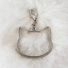Load image into Gallery viewer, Pendant with clasp, Antique silver CAT HEAD