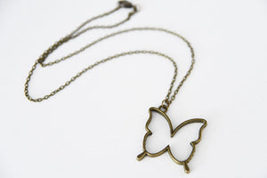 Vintage necklace, simple, BUTTERFLY