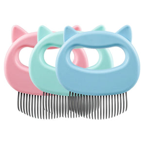 Cat grooming comb with soft teeth