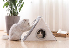 Load image into Gallery viewer, Cat House with scratch board, pyramid.
