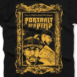 "Portrait of a Pimp (T-SHIRT) | SmooVth x Giallo Point | Copenhagen Crates Exclusive Limited Vinyl 12"" Wax Record Underground Rap Hiphop Hip Hop"