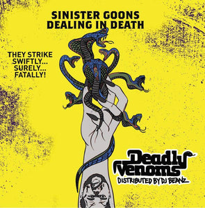 "Deadly Venoms (LP) | DJ Beanz | Copenhagen Crates Exclusive Limited Vinyl 12"" Wax Record Underground Rap Hiphop Hip Hop"