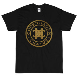 "Gold Logo (T-SHIRT) | Copenhagen Crates | Copenhagen Crates Exclusive Limited Vinyl 12"" Wax Record Underground Rap Hiphop Hip Hop"