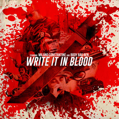 Write It In Blood (LP) | Body Bag Ben x Milano Constantine | Copenhagen Crates Exclusive Limited Vinyl 12