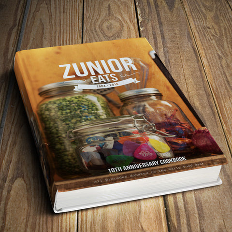 Zunior Eats - 10th Anniversary Charity Cookbook (Book) - Free Shipping