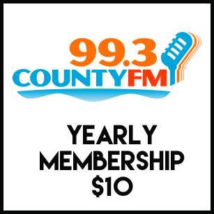 County FM 99.3 (Yearly Membership with free download)